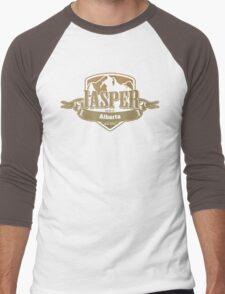 Jasper Alberta Ski Resort Men's Baseball ¾ T-Shirt