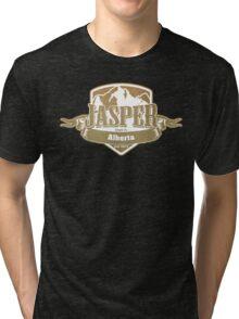 Jasper Alberta Ski Resort Tri-blend T-Shirt