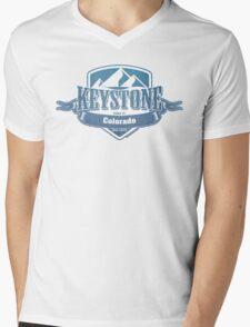 Keystone Colorado Ski Resort Mens V-Neck T-Shirt