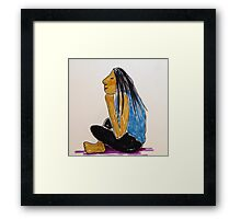 Daily drawing one Adele Framed Print