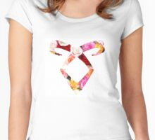 TMI/Shadowhunters - ANGELIC RUNE (FLOWER) Women's Fitted Scoop T-Shirt
