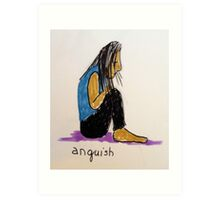 Daily drawing two - Anguish Art Print