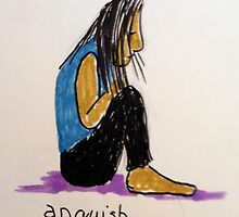 Daily drawing two - Anguish by carol selchert