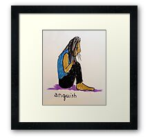 Daily drawing two - Anguish Framed Print