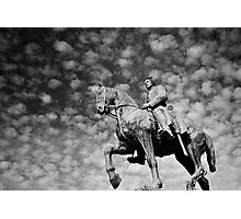 Man on a Horse Photographic Print