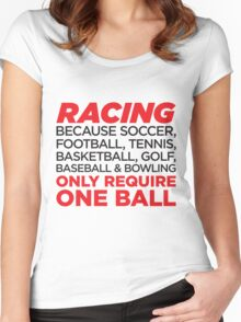 Racing Women's Fitted Scoop T-Shirt