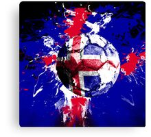 football Iceland Canvas Print