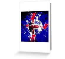football Iceland Greeting Card