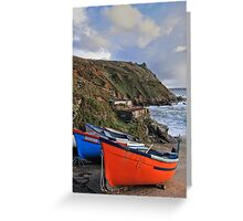 Boats on the slipway Greeting Card