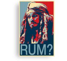 Jack Sparrow for President Canvas Print