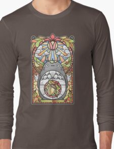 Stained Glass Forest Spirit Long Sleeve T-Shirt