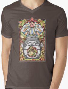 Stained Glass Forest Spirit Mens V-Neck T-Shirt