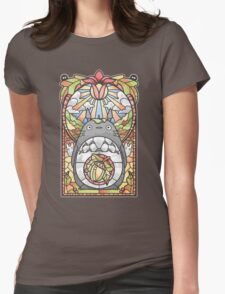 Stained Glass Forest Spirit Womens Fitted T-Shirt