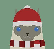 Christmas Siamese by psygon