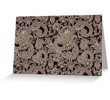 Oriental Persian Paisley, Swirls - Red Beige  Greeting Card