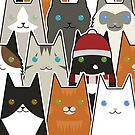 Christmas Cats by psygon
