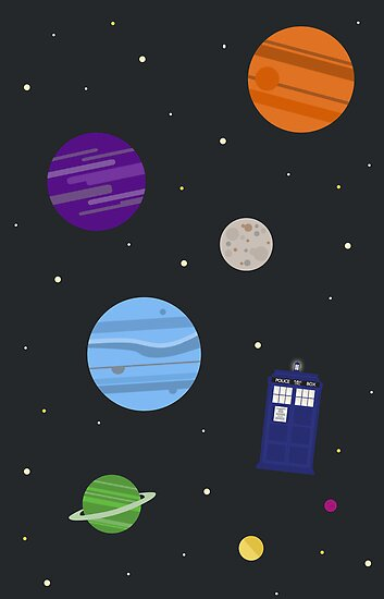TARDIS In Space by fangirlshirts