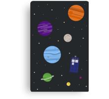 TARDIS In Space Canvas Print