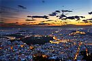 Athens around sunset by Hercules Milas