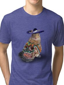 Day Of The Dead Squirrel Tri-blend T-Shirt