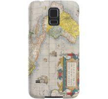 Antique Map of Western Hemisphere Circa 1579 Samsung Galaxy Case/Skin