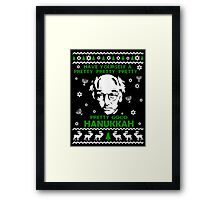 LARRY DAVID PRETTY GOOD HANUKKAH UGLY SWEATER Framed Print