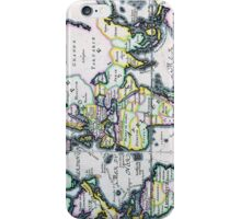 Antique Map of the Known World Circa 1714 iPhone Case/Skin