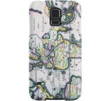 Antique Map of the Known World Circa 1714 Samsung Galaxy Case/Skin