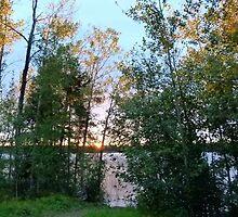 Sunset on Granite Lake,NE Sask,Canada by MaeBelle