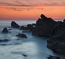 Hartland Quay at sunset by Davidpstephens