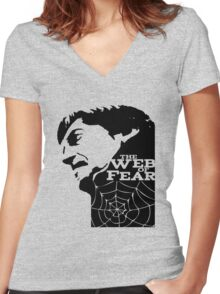 Doctor Who – The Web of Fear Women's Fitted V-Neck T-Shirt
