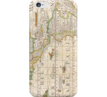 Antique Map of the Americas Circa 1652 iPhone Case/Skin