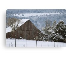 Winter Americana Canvas Print