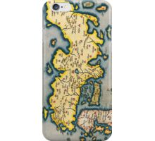 Antique Map of Japan Circa 1590 iPhone Case/Skin
