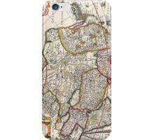 Antique Map of Asia Circa 1632 iPhone Case/Skin