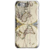 17th Century Antique Map of the World iPhone Case/Skin
