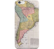 17th Centruy English Antique Map of South America iPhone Case/Skin