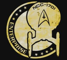 Star Trek Grunge Logo Gold by tronnie
