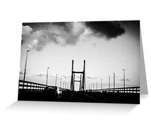 The Severn Bridge. Greeting Card