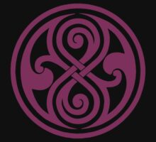 Seal of Rassilon - Classic Doctor Who - Purple on Black (Clean) by James Ferguson - Darkinc1