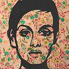 Twiggy Floral 60's Print Phone Case  by georgiagraceart