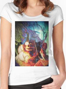 6859 Buddha T Women's Fitted Scoop T-Shirt