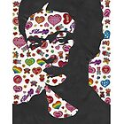 Frida Kahlo Stickers Phone Case by georgiagraceart
