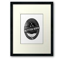 BUTTERBEER - Hogsmede Brew Black Label  Framed Print