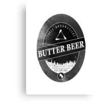 BUTTERBEER - Hogsmede Brew Black Label  Canvas Print