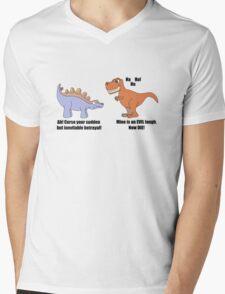 DinoWashtopia Mens V-Neck T-Shirt