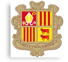Andorra Coat of Arms  Canvas Print