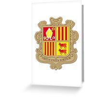 Andorra Coat of Arms  Greeting Card