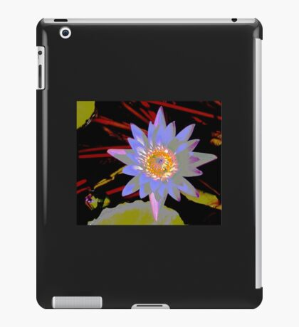 purple water lilly with red stems. iPad Case/Skin