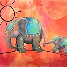 Elephant March by Kristy Spring-Brown